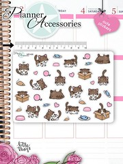 Kawaii Cat Stickers Cute Cats Stickers Cats Stickers Planner Stickers Erin Condren Functional Stickers Decorative Stickers NR1406 by EmelysPlannerShop (emelysplannershop.com) Tags: planner stickers icon accessories functional daily agenda organizer live emelysplannershop