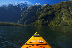 Unreal (Matt Champlin) Tags: wednesday humpday milfordsound newzealand kayak boat boating kayaking life nature outdoors adventure travel winter fjords sound sounds canon 2018 mountains snow green lush exotic amazing