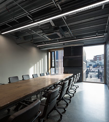 Cooney Architects _ Kilmainham Office and Training Centre _ 2018 _ Dublin _ Meeting Room (SteMurray) Tags: review cooney architects architecture ireland irish stemurray steie hairdressing school academia architectural photographer photography tall building shadows facade
