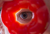 Red Eye (93/365) (lacygentlywaftingcurtains) Tags: 365 eye redpepper weird strange selfportraittechnically butytho hole