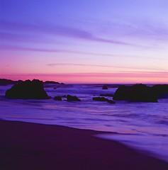 Garrapata State Park, Big Sur (pirate-manners) Tags: fujifilm provia rollei sl66 california bigsur landscape beach sunset