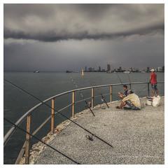 Fishermen (christophe plc) Tags: sky sea pattaya chonburi thailand canon 6dmark2 christopheplc flickr photo pic fisherman fishermen pecheur ligne christophe plouhinec
