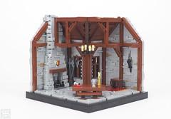 CCC XVI - Common Room (Silmaril_1) Tags: lego ccc xvi 16 common room medieval hall interior moc castle silmaril1 2018