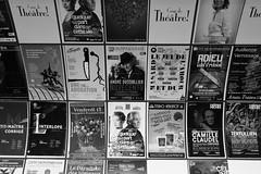 """Parigi F - """"La scelta"""" (Fabrizio Lucchese 1') Tags: parigi francia paris teatro locandine spettacolo fabriziolucchese canon760d bw blackwhite blancoynegro weissschwarz monochrome monocromo monocromatico montparnasse metropolitana metro"""