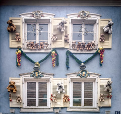 More teddy bears (Ro Cafe) Tags: christmas haguenau windows facades christmasornaments decoration street town alsace france nikkor2470f28 sonya7iii teddy toys