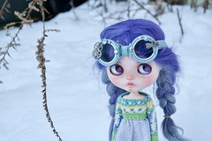 Mabel Makeover (Chassy Cat) Tags: purple scalp blythe chassycat custom customized doll adorableaubrey adorable aubrey rbl neo takara cangaway weepingbeauty alpaca goggles