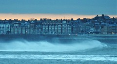 Dawn Over Whitley Bay Sea Front (Gilli8888) Tags: whitleybay coast coastal coastline northsea northeast nikon p900 coolpix sea water marine seafront buildings waves rexhotel windows dawn