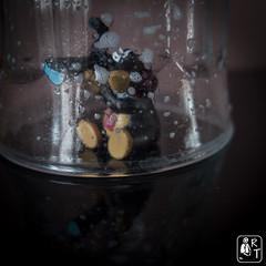 The speckled glass & MacroMole (rtnikyo) Tags: macro macromole taupe verre glass speckled moucheté macromondays picktwo