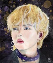 Kim Taeh Yung. K-POP Artist (BastetAcid) Tags: ilustracion illustration sketch sktchy retrato kpop digitalart mixedmedia watercolor portrait art kimtaehyung