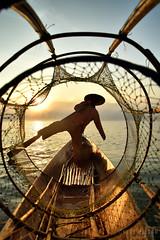 fishing net, Inle lake (Neal J.Wilson) Tags: myanmar burma asia sunrise dawn sunset fisherman fishing fishingnets inle lake water travel travelling nikon traditional