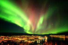 Auroras over Narvik (yan08865) Tags: aurora sky night narvik norway lofoten nordic landscapes cityscapes travel stars pavlis nature borealis northern lights canon wide angle solo winter citylights ofot fjord photographers earth water sea seascape ocean
