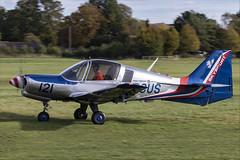 Scottish Aviation Bulldog 120-122 - 01 (NickJ 1972) Tags: shuttleworth collection oldwarden race day airshow 2018 aviation scottish bulldog gbcus 121 120122