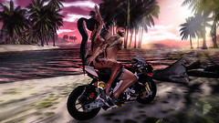 bike ride on the beach (СОВА) Tags: love couple paare boy girl summer beach beike signature maitrey süam spam 3d virtual secondlife game spiel mädchen man frau ride meer natur anybody bento second catwa tattoo photo photoshop gefül leben beautuful