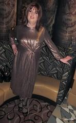 Lean to (janegeetgirl2) Tags: transvestite crossdresser crossdressing tgirl tv ts trans jane gee leeds first friday lff bronze dress high heels