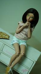 Lutecia (Les dolls de Lovelyshiva) Tags: balljointeddoll minifee minifeechloe mnf fairyland doll tan girl