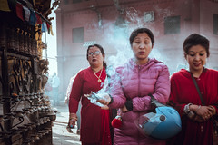 Incense (danielhibell) Tags: kathmandu nepal travel asia discover explore world street streetphotography people religion culture ambience mood buddhism hinduism colour light praying moving special