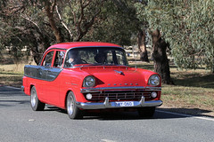 """HOLDEN """"Specials"""" (2/2) (Jungle Jack Movements (ferroequinologist)) Tags: fb fc fe ek ply plywood caravan tow grey red motor gm gmh kingswood chev chevrolet car auto automobile chrome polish show shine vehicle saloon classic collectable veteran old historic history vintage rare beautiful restored hottie injected fast great drive speed wheel loud rumble paint seat hood horsepower inches hp drag gear shift clutch tour owner proud bonnet colour color transport pride engine hall act australian capital territory general motors holden"""