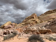 rainclouds over Valley of Fire (try hank) Tags: usa nevada nature rocks clouds mountains valleyoffire