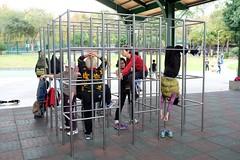 Monkey bars (AntEater Theater) Tags: monkeybars elderly women parks beitou taipei taiwan streetphotography