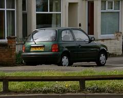 Passion (Sam Tait) Tags: newark trent car spotting 2019 nissan march micra k11 hatchback passion green 1998 petrol 10 16v