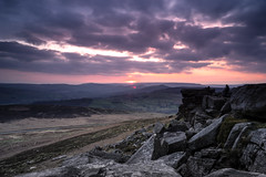 Stanage Edge Sunset Mish (Waving lights in the dark) Tags: sunset cokin filter filters sky skyscape landscape rocks edge stanage stanageedge peak peakdistrict derbyshire tourists colour