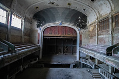 Theater Varia (Hooismans) Tags: abandoned abandon abandonné abandonnée abbandonato abbandonata ancien ancienne alone architecture explorationurbaine exploration explore exploring empty explo explored distillery trespassing rust rusty ruins rotten urbex urban urbain urbaine urbanexploration interdit interior inside inexplore old past photography decay decaying derelict dust decayed dusty forgotten forbidden lost light nobody neglected building verlassen creepy huge industrial factory ceiling people arch road sign tree sky theater theatre varia charleroi