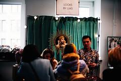 Gaze (ewitsoe) Tags: 50mm city ewitsoe nikond750 spring street wraszawa erikwitsoe erikwitsoecom poland urban warsaw mirror onthewall woman gaze lookinginto reflection frombehind show fashion makeup bazaar moment life female lady
