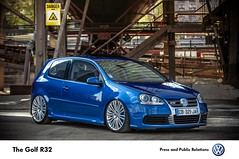 The Golf R32 (Mourad Ben Photography) Tags: volkswagen golf r32 deep blue airlift air ride michelin race car