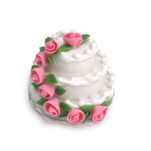 Dollhouse Miniature Mini 3 Layer Wedding Cake