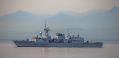 HMCS Vancouver (Paul Rioux) Tags: ship boat vessel frigate hmcs vancouver military royal canadian navy armed forces warship mountains ocean sea calm water prioux