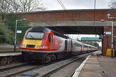 43296 + 43290 - Royston - 13/01/19. (TRphotography04) Tags: london northeastern railways lner hst 43296 43290 pass through royston with diverted 1y20 0855 newcastle kings cross