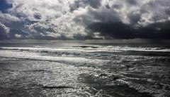 Huntington Beach - Silvering (Andy.Gocher) Tags: andygocher canon100d usa california huntington beach sea seascape seaside clouds cloudsstormssunsetssunrises cloudscape sky wales surf surfing