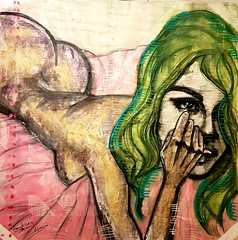 Julie (franck.sastre) Tags: art painting picture femme colors miradas cuerpo