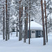 Chalet de l'Hôtel Samperin Savotta à Savukoski en Laponie