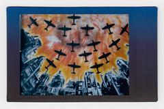 (Hem.Odd) Tags: smoke fire fujifilm instaxmini90 rainbow war bombing malaysia kualalumpur graffiti