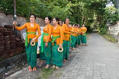 (kuuan) Tags: bali ladies women village path row odalan festival pose selfie handphone sonyrx100iii