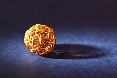 Hard Light, Soft Colour (steve_whitmarsh) Tags: macro closeup beads colour orange blue art shadow macromondays hardlight