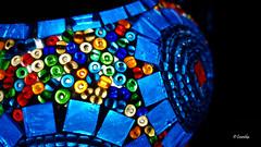 Lámpara (Constanza Romero L.) Tags: samsung galaxys7 chile angol summer verano light luz lampara lamp contrast contraste color colour mosaic mosaico
