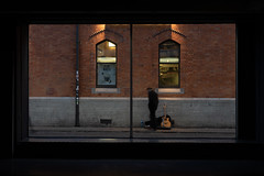 On Stage (Stefan Waldeck) Tags: wall windows street busker man guitar poster lights tiles dublin ireland 2018 netzki stefanwaldeck stefan waldeck
