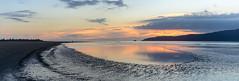 Waikanae Beach Reflections (David Hamments) Tags: nz waikanaebeach panorama sunset fantasticnature flickrunitedaward