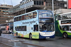 Stagecoach in Manchester 19530, MX09KTO. (EYBusman) Tags: stagecoach manchester gm buses south greater piccadilly gardens city centre alexander dennis enviro 400 overall advert together 19530 mx09kto eybusman