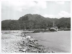 Extensions to Avatiu Harbour under construction, Rarotonga, 1969