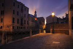 Venetian paths 155(San Pantalon) (Maurizio Fecchio) Tags: venice venezia city cityscape citynight longexposure lights nopeople sunrise morning church water canal architecture reflections no people nikon d7100 haidafiltersitalia haida