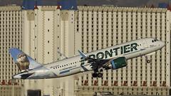 N336FR_LAS_Takeoff_1R_Rosie_The_River_Otter (MAB757200) Tags: frontierairlines a320251n n336fr rosietheriverotter aircraft airplane airlines airbus airport jetliner las klas mccarran takeoff runway1r