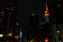 One Beam of Light (Jocey K) Tags: empirestatebuilding sonydscrx100m6 triptocanadaandnewyork architecture buildings evening illumination nighttourhopandhopoffbus newyorkcity