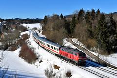 218 476 Martinszell (1720n) (christophschneider1) Tags: kbs970 allgäubahn martinszell kurzberg allgäu oberallgäu deutschebahn dbfernverkehr intercity ic2084 nebelhorn 218 2184 218476 bwegt d850