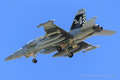 """Boeing EA-18G Growler of Electronic Attack Squadron 137 (VAQ-137) """"Rooks"""" from NAS Whidbey Island (Norman Graf) Tags: ordnance agm88harm aircraft airplane analq99 aim120c ea18g electronicwarfare boeing nasfallon usn agm 168266 missile vaq137 aim120 cagbird aim navalaviation fa18 rooks ab500 amraam asm advancedmediumrangeairtoairmissile airinterceptmissile airtogroundmissile airtosurfacemissile attack carrierairgroup ew electronicattacksquadron137 f18 f18g fighter growler highspeedantiradiationmissile hornet jet knfl naswhidbeyisland nfl plane tacjammer tacticaljammingsystem unitedstatesnavy"""