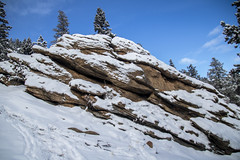 Off the Trail Rock (noname_clark) Tags: rockymountainnationalpark outdoor hike snow lillymountain rock trail boulder