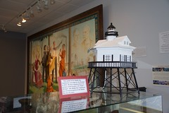 Model of Middle Bay Lighthouse (King Kong 911) Tags: cokemachine fireengine flowers2 history murals2 museum stamps statue train1