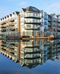 Flats By The Grand Union Canal In Brentford - London. (Jim Linwood) Tags: canal brentford london england